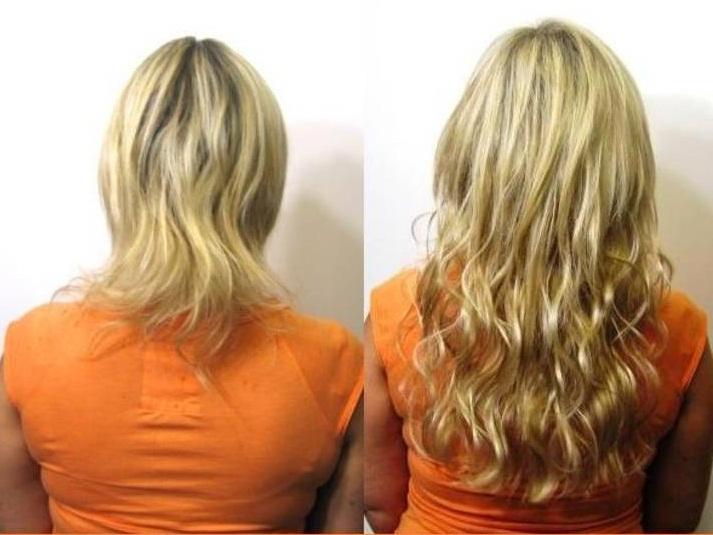Техники наращивания волос