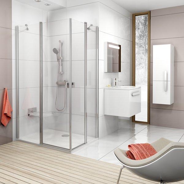 Душевые двери в ванной комнате