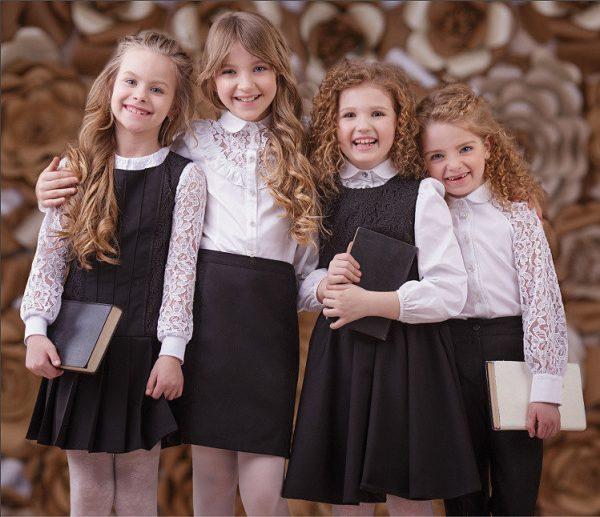 Блузки школьные для девочек оптом